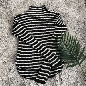 Express Mock Neck Stripped Sweater